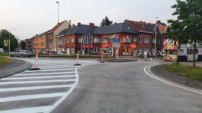 De nieuwe verkeerssituatie aan 't Neuzeke.