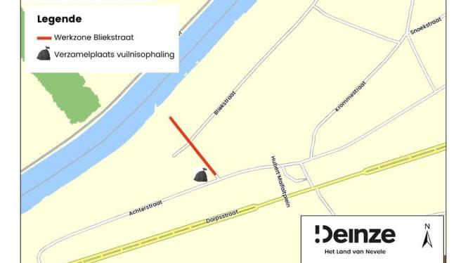 Bliekstraat gedeeltelijk afgesloten door rioleringswerken
