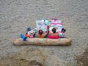 Relaxen op het strand bij Collioure in het zuiden van Frankrijk.