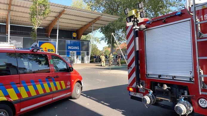 Het brandalarm trad in werking bij Lidl