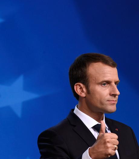 'Trumpje' van Macron valt slecht