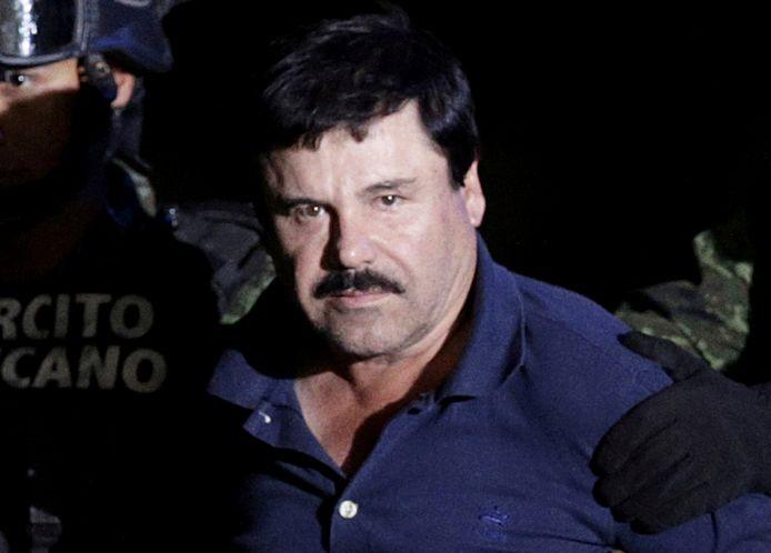 Joaquin 'El Chapo' Guzmán toen hij in januari 2016 opnieuw gevat werd.