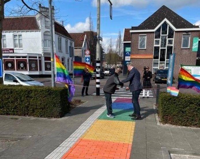 Het regenboogpad in Bodegraven.