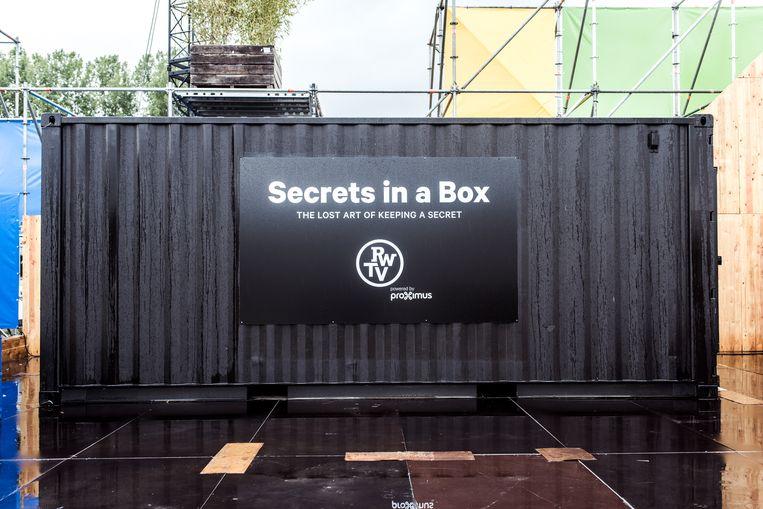 Secret in a Box op Rock Werchter 2017. Beeld Tine Schoemaker
