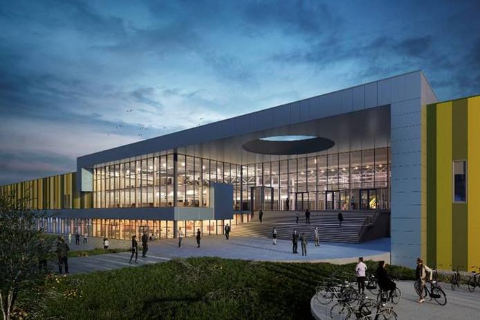 De hoofdingang van Brainport Industries Campus in Eindhoven.