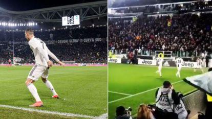 Zo geliefd is Ronaldo al in Turijn: heel Juventus Stadium schreeuwt 'SIIIII' wanneer Cristiano viert