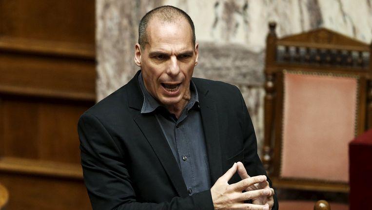 Grieks minister van Financiën Yanis Varoufakis. Beeld REUTERS