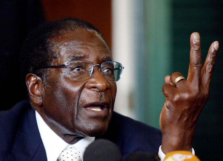 Robert Mugabe is sinds 1980 aan de macht in Zimbabwe.  Beeld Photo News