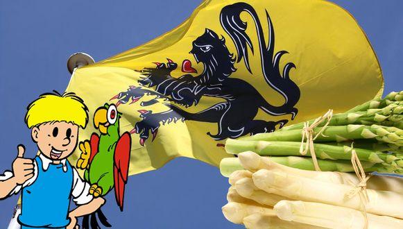Zowel Jommeke als de Vlaamse asperges zouden een plaatsje kunnen krijgen op de lijst.