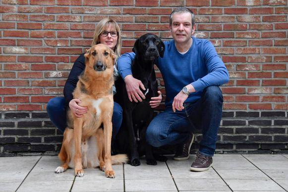 De honden van Kristel en Mario werden geadopteerd via de vzw Spaanse Honden in Nood en zo van een gewisse dood gered.