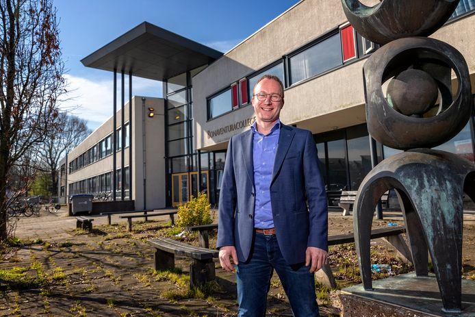 Ondernemer Barry Verdel heeft plannen met het oude Bonaventura college.