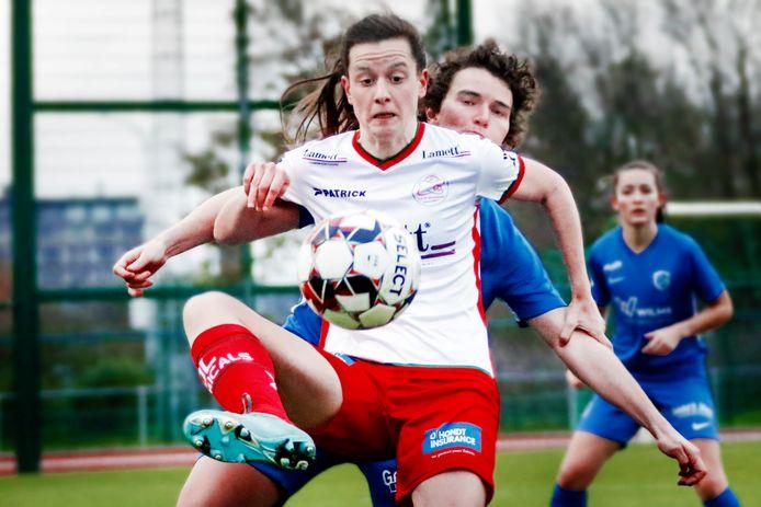 Summer Rogiers, met een technisch hoogstandje in de partij tegen Genk, kijkt uit naar het duel bij ex-ploeg AA Gent Ladies.