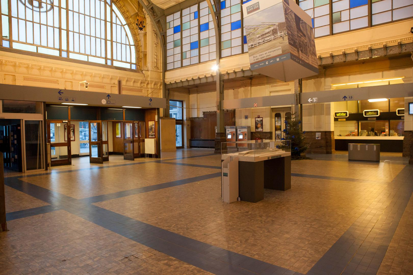 Het station van Oostende.