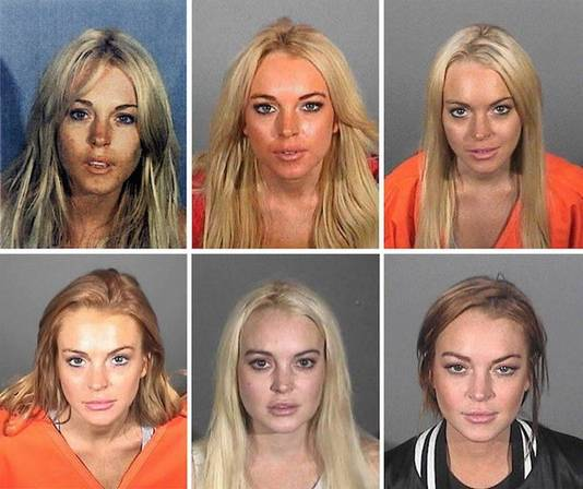Lindsay Lohan lors de ses différentes arrestations