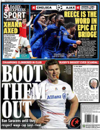 Voorpagina sportkatern Daily Express