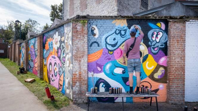 Leerlingen krijgen straatkunst cadeau na coronacrisis