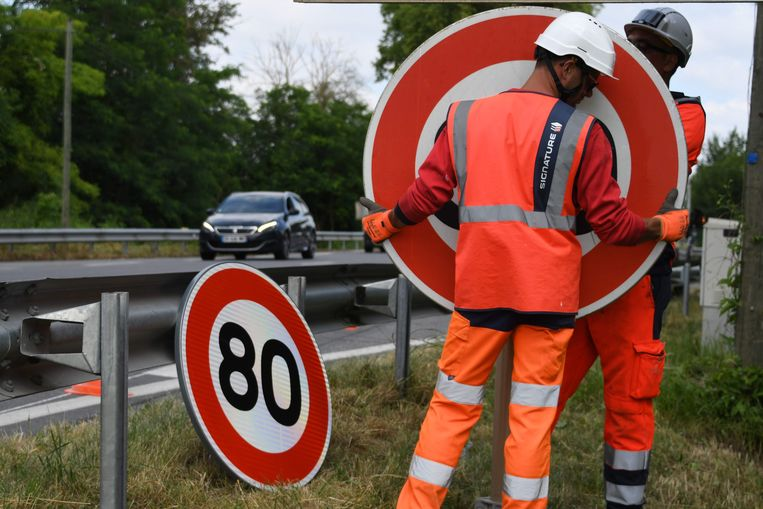 De nieuwe maximumsnelheid van 80 km per uur is sinds 1 juli 2018 van kracht.