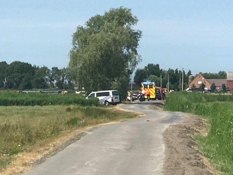 De 82-jarige fietsster overleed ter plaatse aan haar verwondingen.