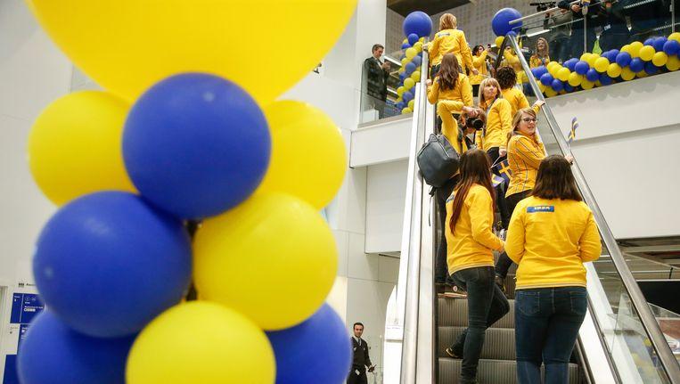 Vandaag opende er ook een IKEA in Bergen en dat zorgde eveneens voor een stormloop. Beeld BELGA