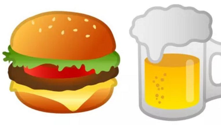 Foute hamburger en verkeerd bier. Beeld null