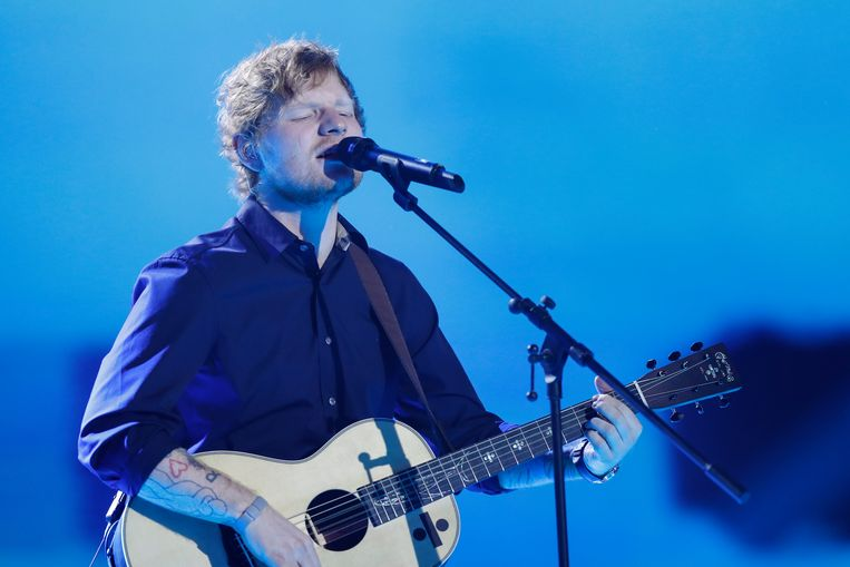Ed Sheeran scheert hoge toppen. Beeld Getty Images