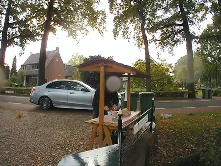 Eierjatter in Maartensdijk op camera vastgelegd