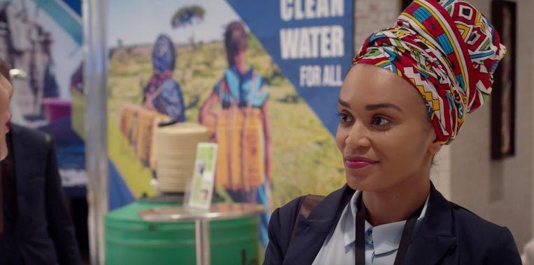 Netflixserie Queen Sono, met in de hoofdrol de Zuid-Afrikaanse actrice Pearl Thusi.  Beeld
