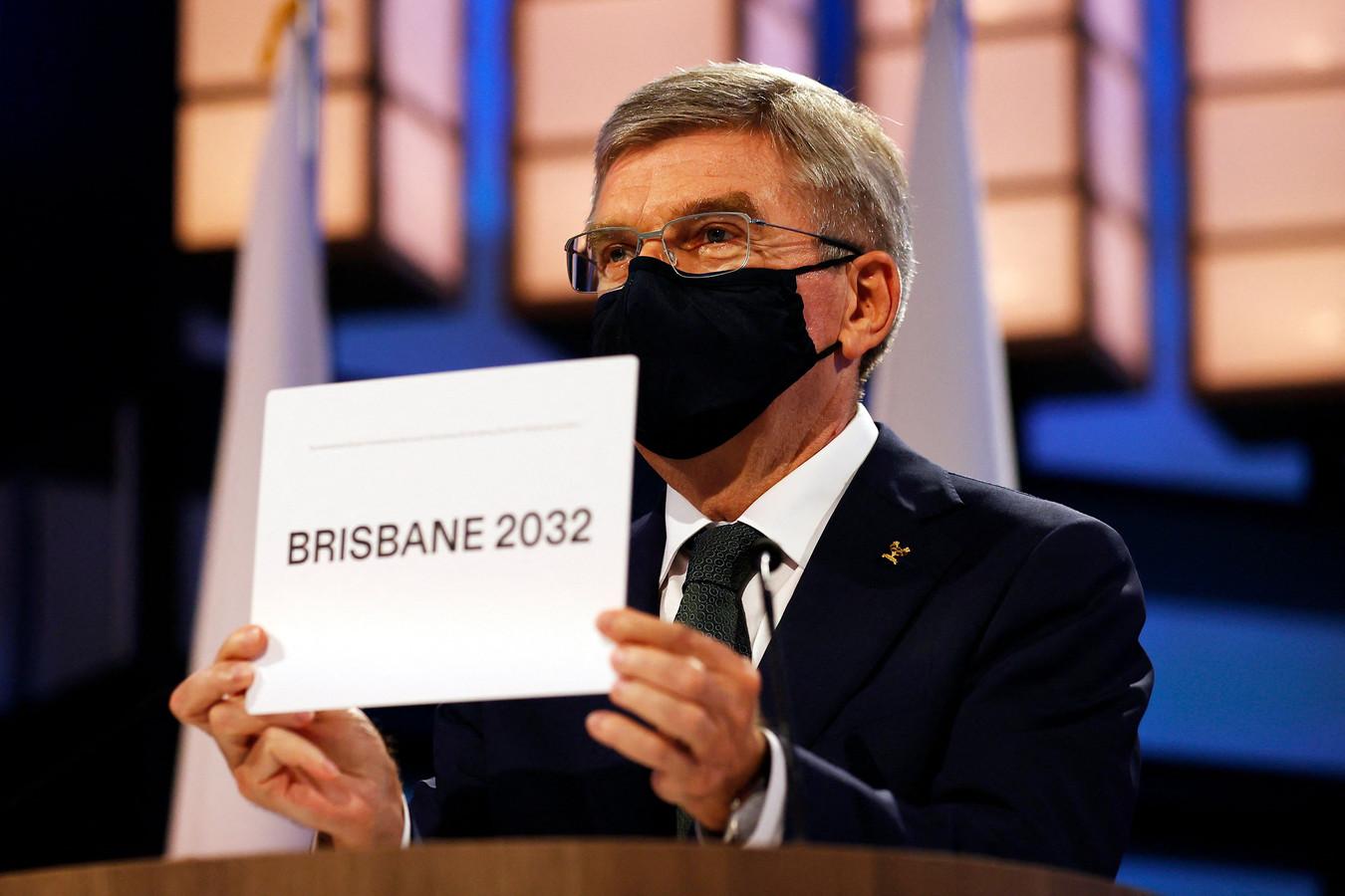 Thomas Bach kondigt Brisbane aan als gastheer van de Olympische Spelen in 2032.