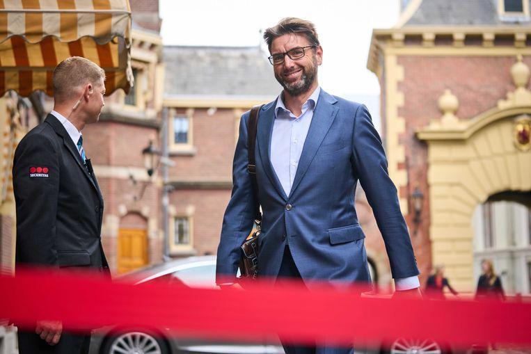 Steven van Weyenberg (D66) is een van de drie Kamerleden die na de verkiezingen demissionair staatssecretaris werd. Beeld ANP