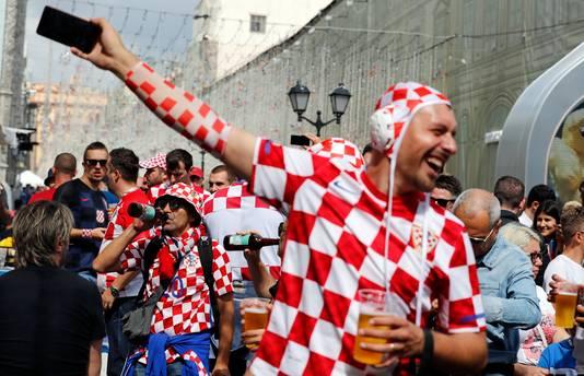 Kroatische voetbalfans in Moskou.