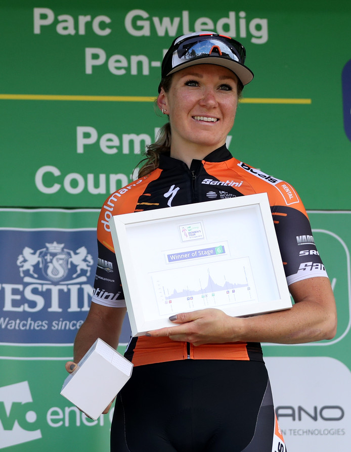 Stage winner Boels Dolmans Cycling Team's Amy Pieters during stage six of the OVO Energy Women's Tour.