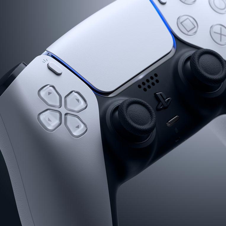 De zeer accuraat vibrerende DualSense-controller van de PlayStation 5. Beeld PlayStation
