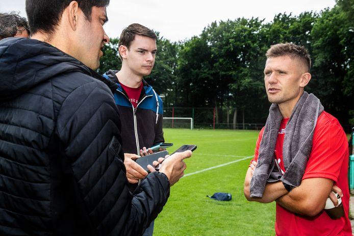 Mikkel Duelund na de eerste training van NEC.