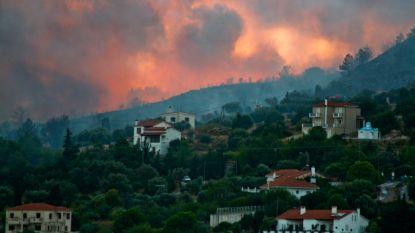 Toeristen geëvacueerd na brand op Grieks eiland