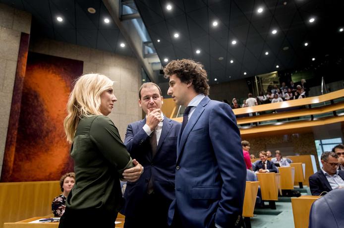 Lilian Marijnissen (SP), Lodewijk Asscher (PvdA) en Jesse Klaver (GroenLinks)