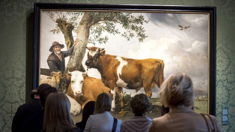 De stier van Paulus Potter, te zien in het Mauritshuis. Beeld EPA