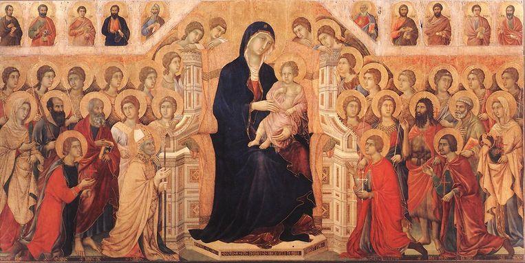 Voorpaneel van Maestà van Duccio, 1308-1311. 'Ik wilde in Siena Italiaans leren. Maar ik werd gegrepen door de Maestà' Beeld Rijksmuseum