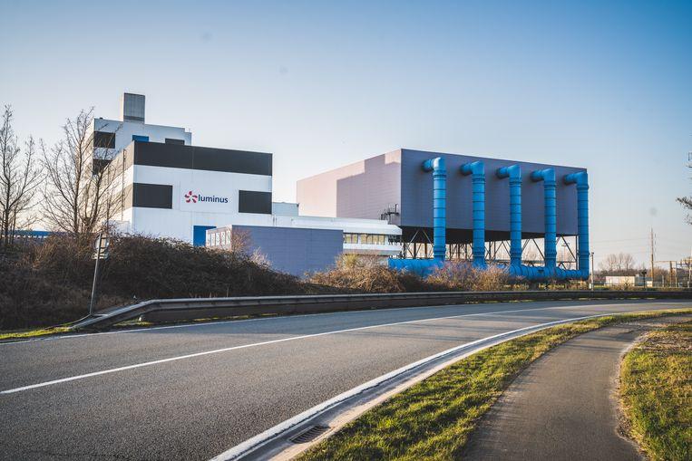 De gascentrale van Luminus in Wondelgem. Beeld Wannes Nimmegeers