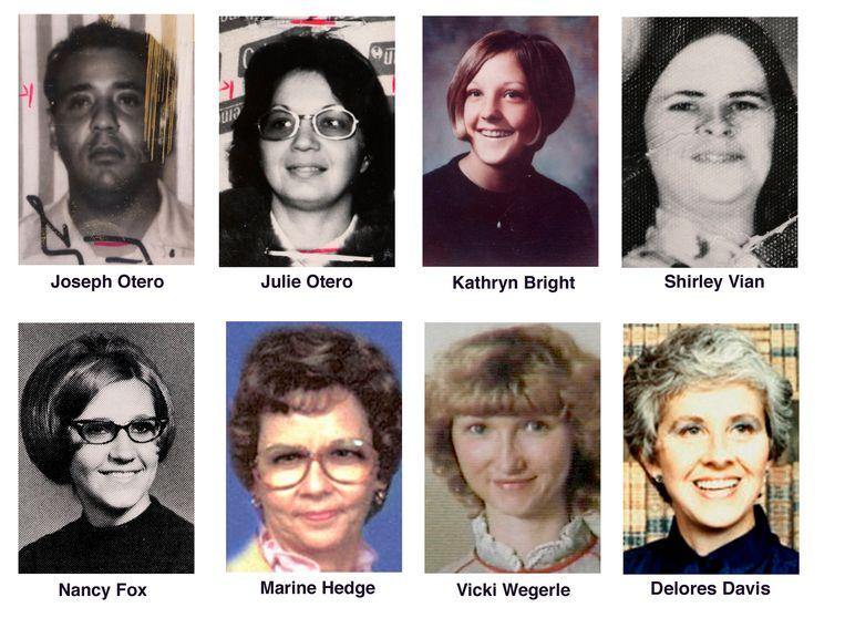 Acht van de tien slachtoffers die Rader maakte.