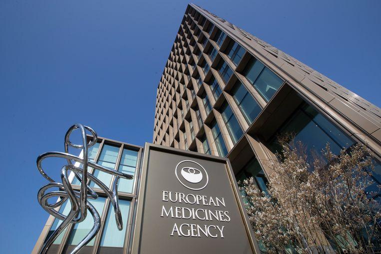 Het gebouw van het Europees Geneesmiddelenbureau op de Zuidas. Beeld AP