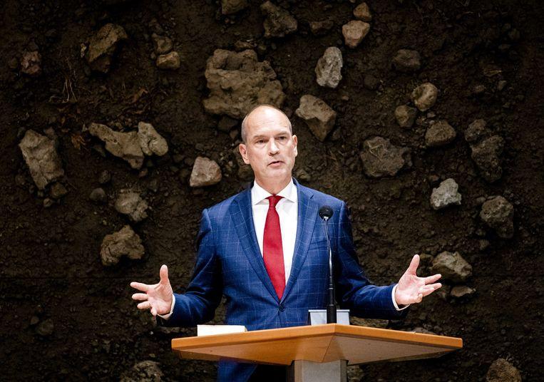 Gert-Jan Segers (ChristenUnie) sloot tijdens de Algemene Politieke Beschouwingen een deal van twee miljard euro met de oude coalitie.  Beeld ANP