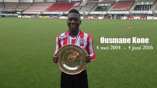 Ousmane Kone kwam zaterdag om het leven tijdens een teamuitje van Sparta Onder 13.