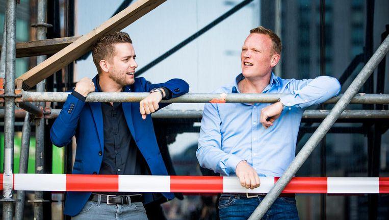 Jan van de Ven (links) en Thijs Roovers van PO in Actie. Beeld Freek van den Bergh