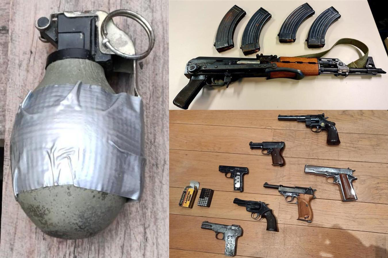 Bij de 13 huiszoekingen in en rondom Mechelen werd een aanzienlijke hoeveelheid wapens en munitie in beslag genomen