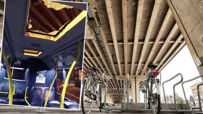 """Stuk beton verbrijzelt dakraam lijnbus aan viaduct E17: """"Risicozones worden zo snel mogelijk afgesloten"""""""
