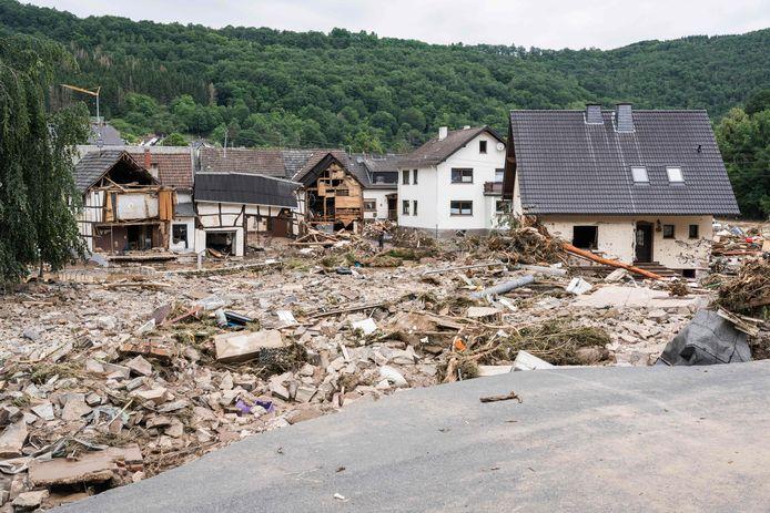 Het verwoeste dorpje Schuld nabij Bad Neuenahr