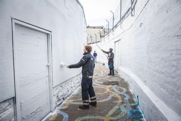 Het Graffitistraatje werd een blank canvas voor graffitikunstenaars.
