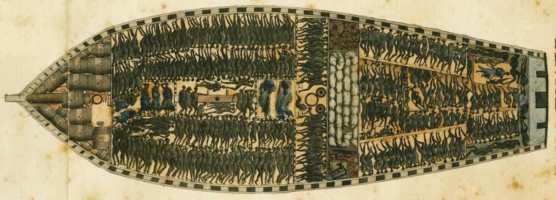 Het ladingplan van het Franse slavenschip Marie Séraphique uit Nantes dat via Congo-Angola naar het Caribisch gebied voer in 1769-1770.
