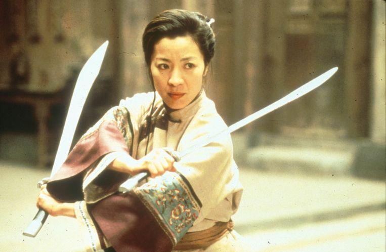 film (Taiwan/Hong Kong/VS/China, 2000) van Ang Lee    foto : Michelle Yeoh (Yu Shu Lien) Beeld