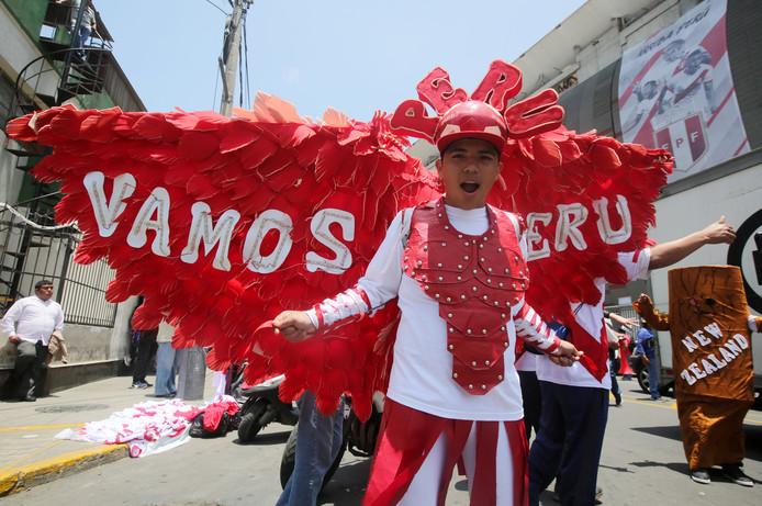 Een fan van Peru.